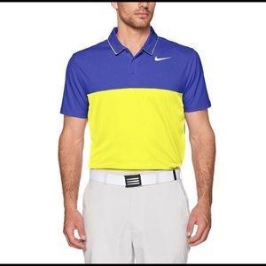L Nike Icon Color Block Polo 882085 Blue/Yellow